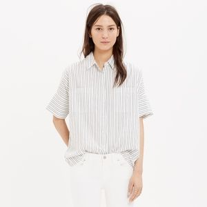 Madewell Striped Courier Shirt. Size Small.